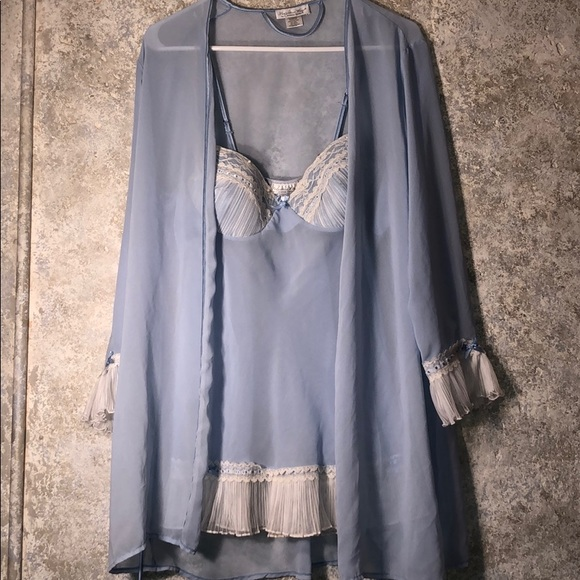 Seduction Wear by Cinema Other - Medium Light Blue Baby Doll sexy nightgown set!